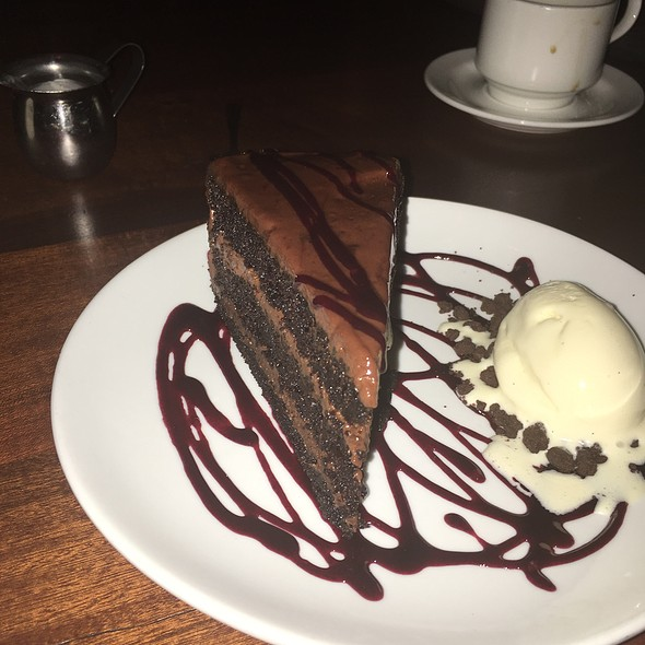 Chocolate Cake - Oak Steakhouse, Charleston, SC