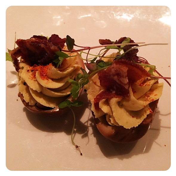 Lapsang Souchong Tea Deviled Egg @ E&O Kitchen and Bar