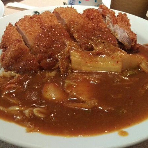 Pork Cutlet Curry With Kimchi @ Curry House Coco Ichibanya