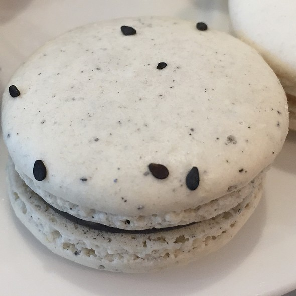 Black Sesame Macaron @ Alexander's Patisserie