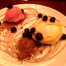 Key Lime Semifreddo - Oak Steakhouse, Charleston, SC