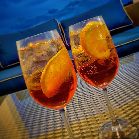 Aperol Spritz Aperol, Prosecco, Sparkling Water, Orange @ Sheraton Bijao Beach Resort - All Inclusive