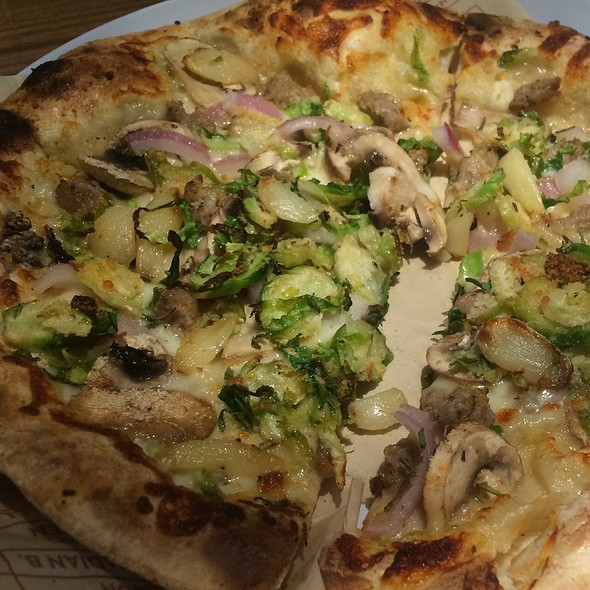 Brussels Sprouts Pizza @ MOD Pizza