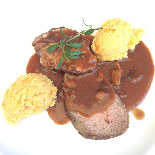 Veal, Polenta @ Hotel & Restaurant Pusswald