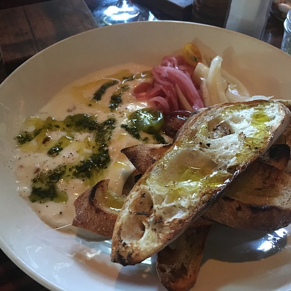 Warm Burrata @ Farmstead at Long Meadow Ranch