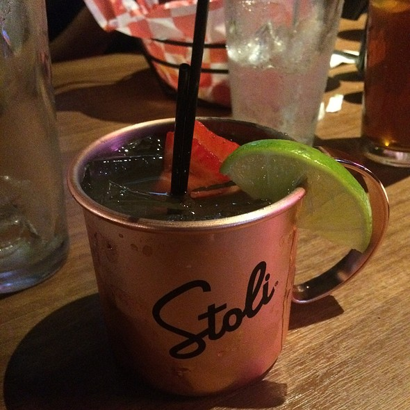 Strawberry Moscow Mule @ Crimson American Grill