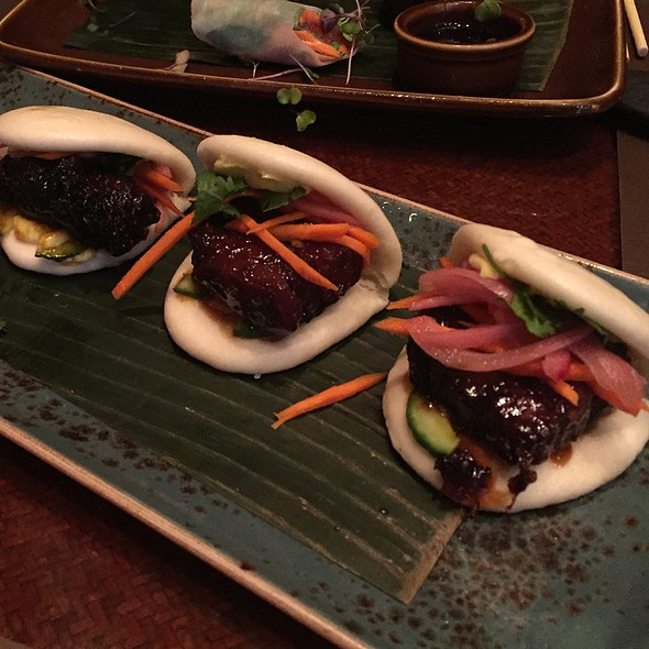 Glazed Pork Belly Buns @ RockSugar Pan Asian Kitchen