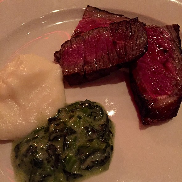 Porterhouse, Whipped Potatoes, Creamed Spinach - Club A Steakhouse, New York, NY