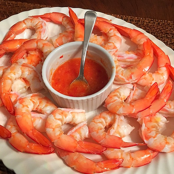 Shrimp On A Plate @ Friend's Home Sydney