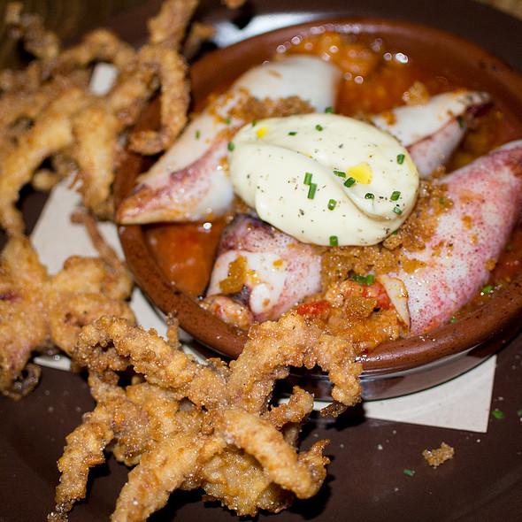 Chorizo Stuffed Calamari