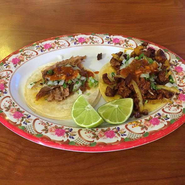 Al Pastor and Carnitas Tacos
