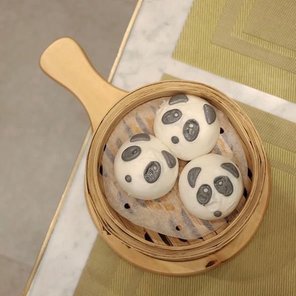 Panda Egg Yolk Lava Bun @ Zhen 臻