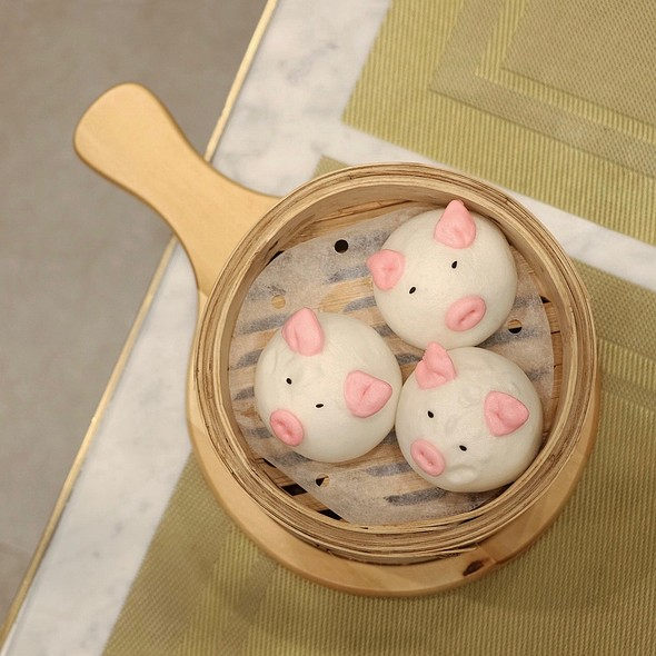 Piggy Barbecued Pork Bun @ Zhen 臻
