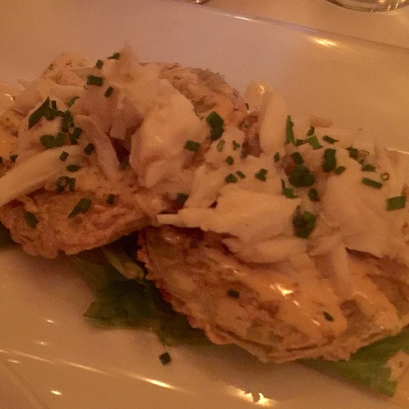 Fried Green Tomatoes W/ Crab @ Atchafalaya Restaurant