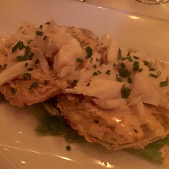 Fried Green Tomatoes W/ Crab @ Atchafalaya Restaurant