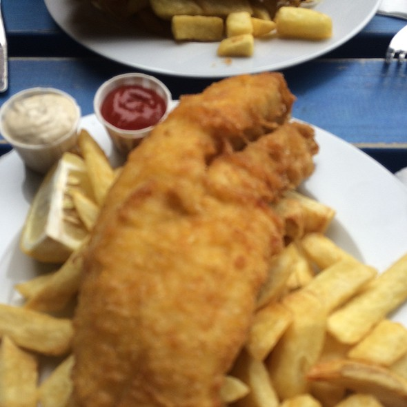 Fish and Chips @ seawise camden (stables market)