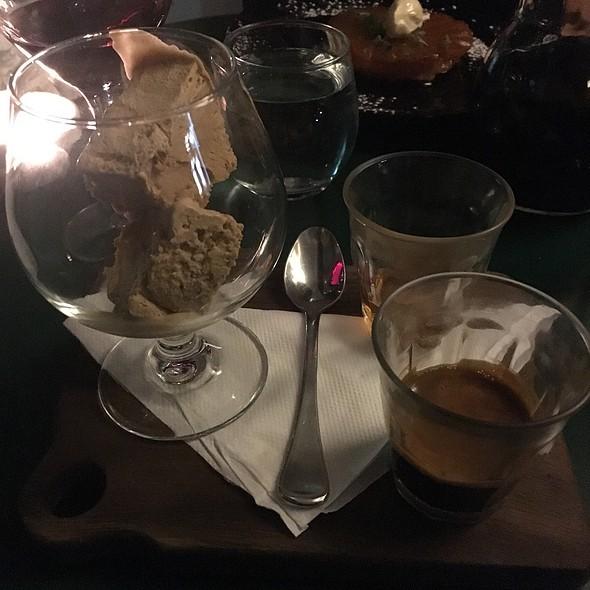 Affogato With Cognac & Coffee Ice Cream