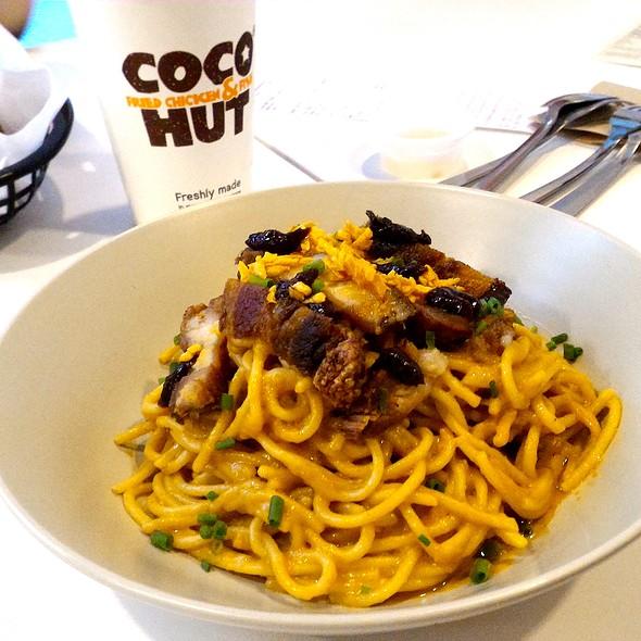Kare-Kare Pasta with Crispy Lecho Kawali @ Coco Hut
