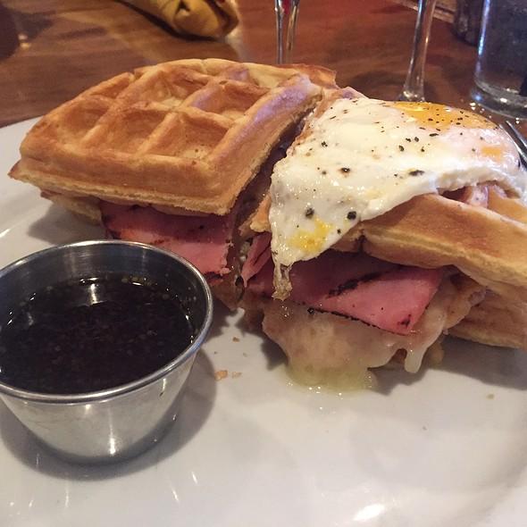 "Chicken and ""Waffle"" Sandwich @ Brown Butter Restaurant"