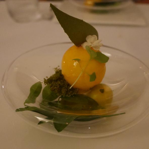 White Yhocolate Mousse with Lemon @ Nagaya