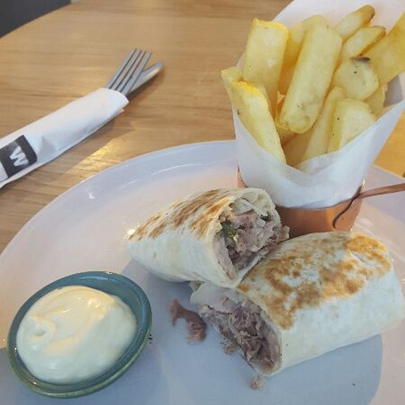 Pork And Fennel Wrap @ Woolworths Cafe