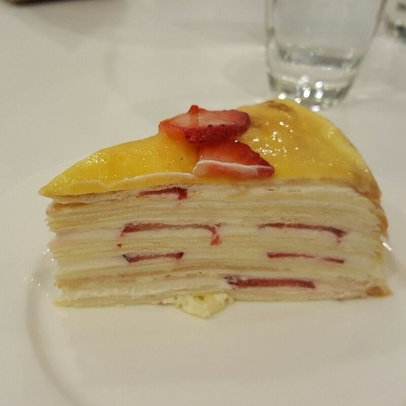 Strawberry Crepe Cake @ Paper Moon Cafe