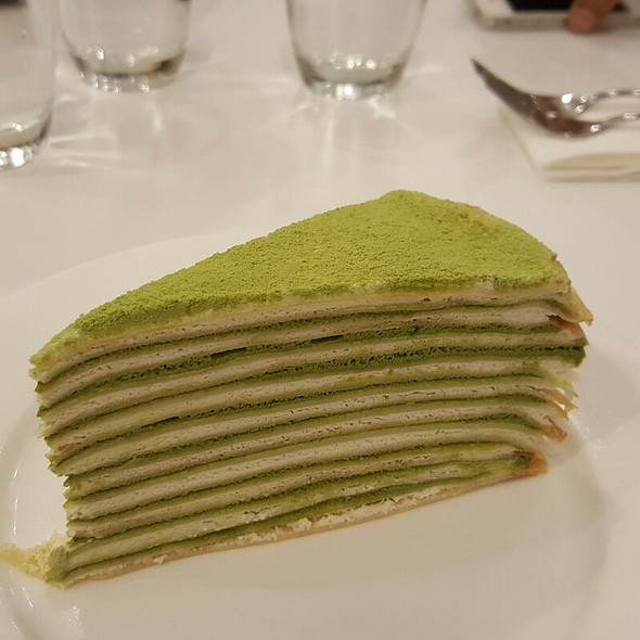 Matcha Crepe Cake @ Paper Moon Cafe