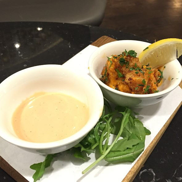 Smothered Rock Shrimp @ Virgin Atlantic Clubhouse