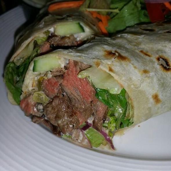 Jalapeño Pepper Steak Wrap @ Hoops Sports Bar & Grill