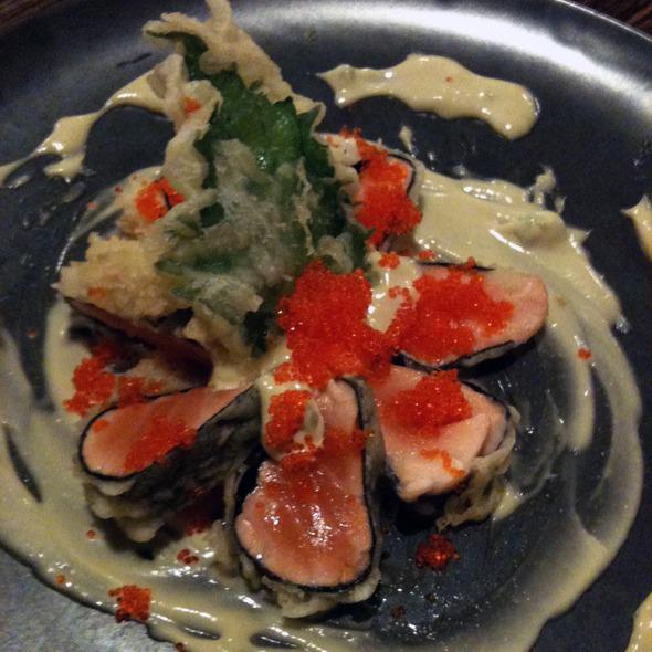 Salmon Tempura Wasabimayo @ Ajisai Japanese Restaurant