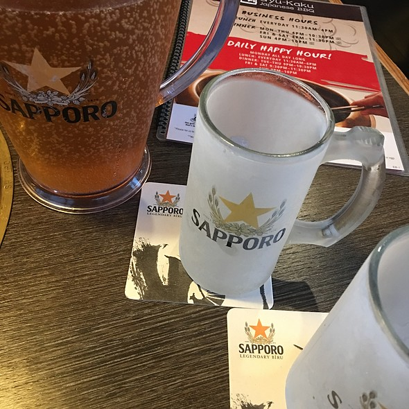 Iced Cold Sapporo Beer With Frosted Mugs @ Gyu-Kaku Japanese Bbq Vancouver