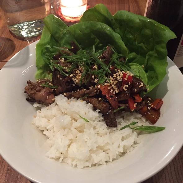 Korean Style Grilled Beef Bowl @ Little Gem