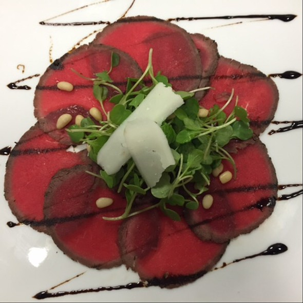 Venison Carpaccio - Basil's, Minneapolis, MN