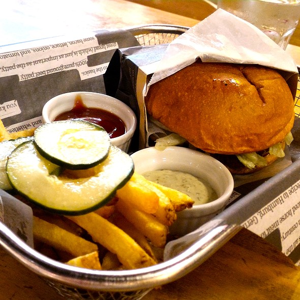 Cheeseburger with Fries @ The Beef