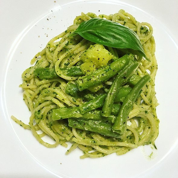 Pesto Pasta With Potatoes and Green Beans  @ HAFH