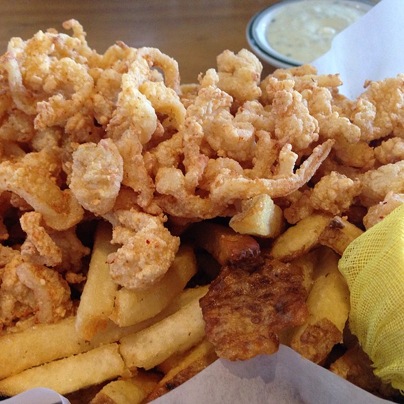 Connie and ted 39 s fried clam strips with fries foodspotting for Ted s fish fry
