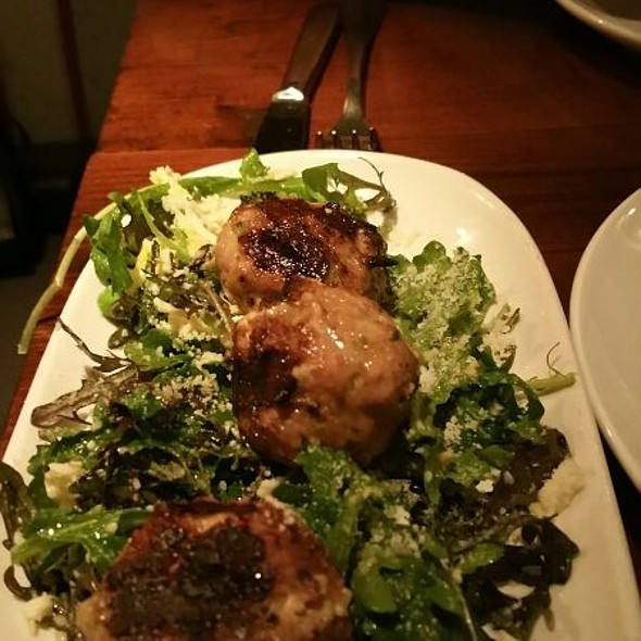 Grilled Pork Meatballs @ Sotto