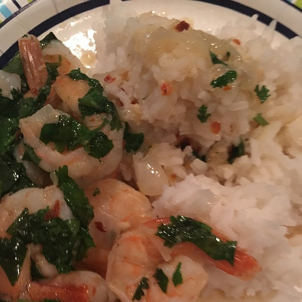 Cilantro Shrimp & Rice @ Home