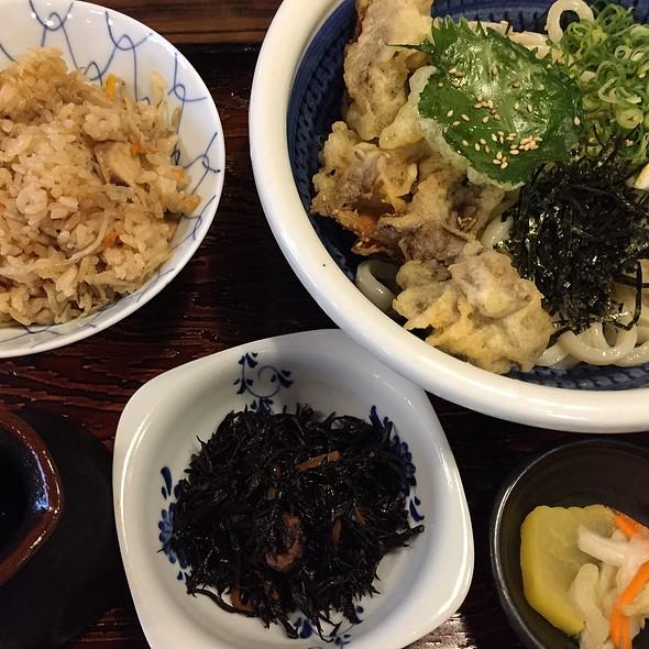 ランチ・舞茸天ぶっかけ定食 @ 釜盛