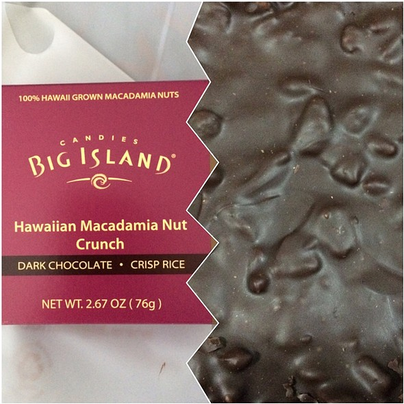 Dark Chocolate Crisp Rice Hawaiian Macadamia Nut Crunch @ Big Island Candies Ala Moana Center