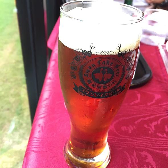 スワンレイクビール アンバーエール @ 瓢湖・屋敷の杜ブルワリー