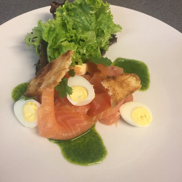 Salmon, Egg And Basil