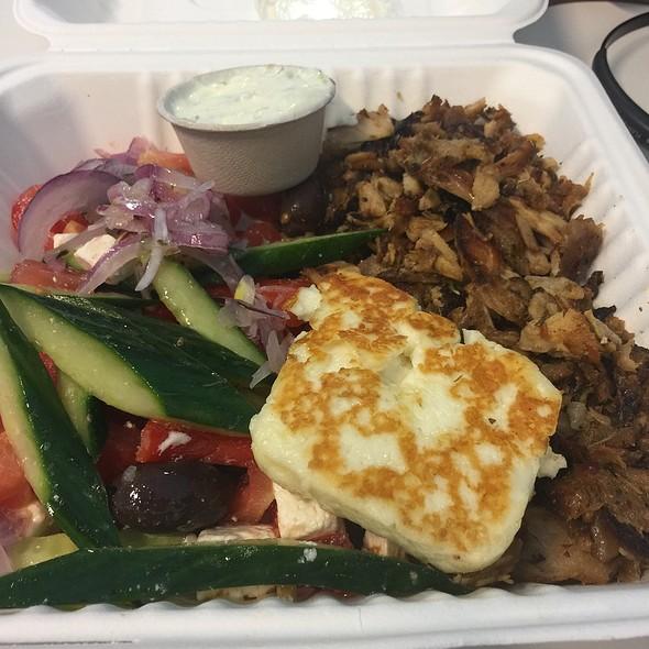 Chicken Haloumi And Greek Salad @ The Yiros Shop