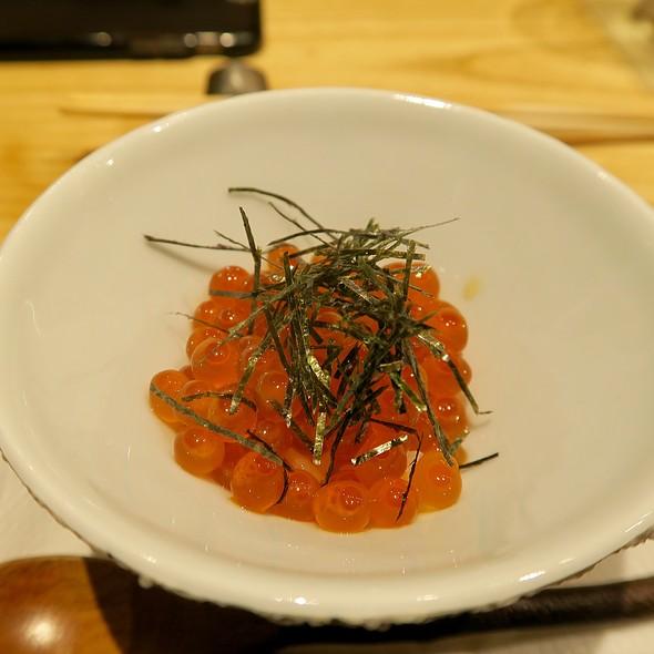 Marinated Ikura Over Sushi Rice