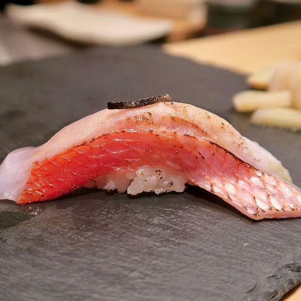 Japanese Golden Eye Snapper Sushi