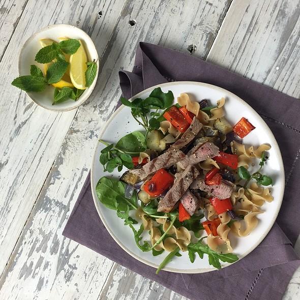 Lentil Pasta Salad & Lamb