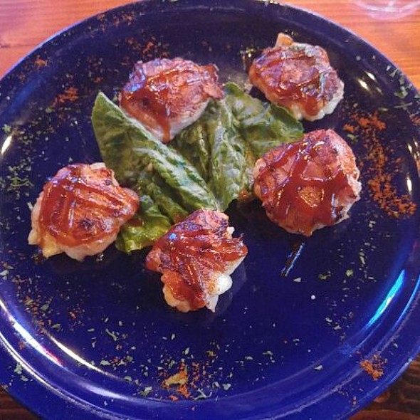 Bacon wrapped BBQ scallops