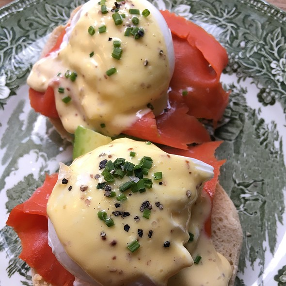 Eggs Benedict With Avocado And Alaskan Salmon