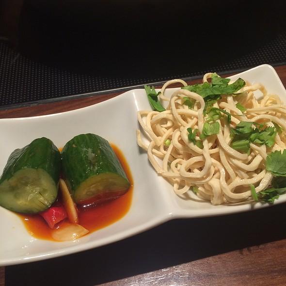 Pressed Tofu With Cilantro & Spicy Pickled Cucumbers @ 中国火鍋専門店 小肥羊 渋谷店