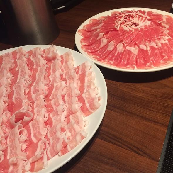 Pork & Lamb Slices @ 中国火鍋専門店 小肥羊 渋谷店